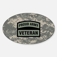 Proud Army Veteran Camo Decal