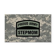 Proud Army Stepmom Camo Rectangle Car Magnet