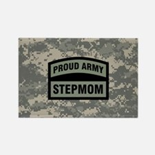 Proud Army Stepmom Camo Rectangle Magnet
