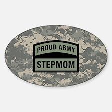 Proud Army Stepmom Camo Sticker (Oval)
