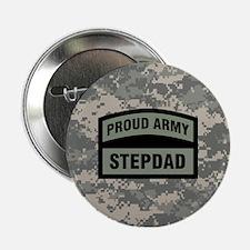 "Proud Army Stepdad Camo 2.25"" Button"