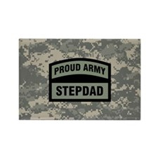 Proud Army Stepdad Camo Rectangle Magnet