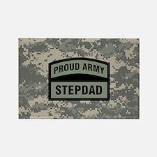 Proud Army Stepdad Camo Rectangle Magnet