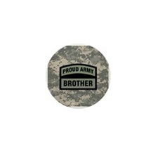 Proud Army Brother Camo Mini Button