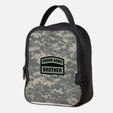Proud Army Brother Camo Neoprene Lunch Bag