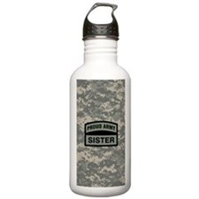 Proud Army Sister Camo Water Bottle