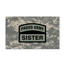 Proud Army Sister Camo Rectangle Car Magnet