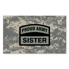 Proud Army Sister Camo Decal
