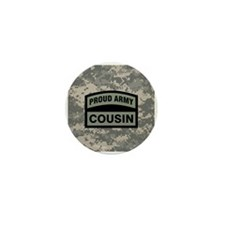 Proud Army Cousin Camo Mini Button