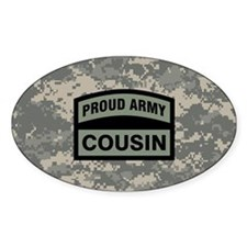 Proud Army Cousin Camo Decal