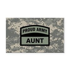 Proud Army Aunt Camo Rectangle Car Magnet