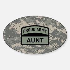 Proud Army Aunt Camo Sticker (Oval)