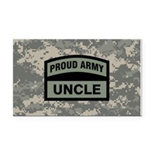 Proud Army Uncle Camo Rectangle Car Magnet