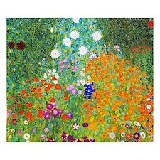 Gustav Klimt Flower Garden King Duvet