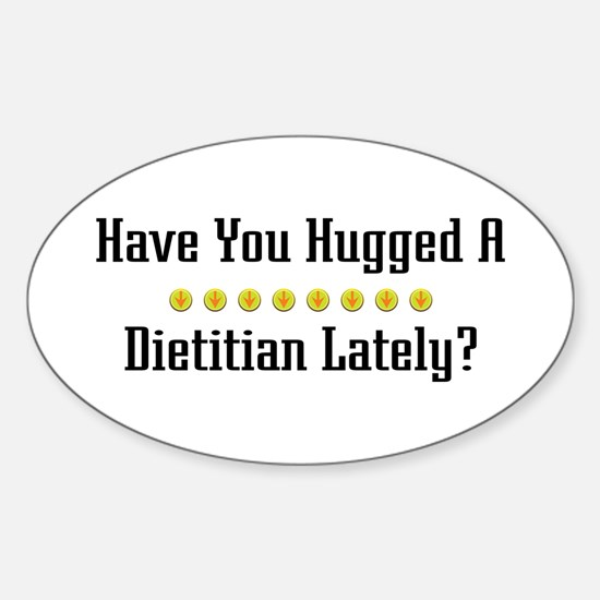 Hugged Dietitian Oval Decal