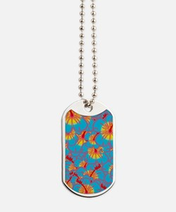 Light blue hibiscus Dog Tags