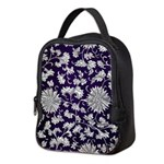 Abstract Whimsical Flowers Neoprene Lunch Bag