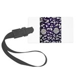 Abstract Whimsical Flowers Large Luggage Tag