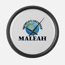 World's Greatest Maleah Large Wall Clock