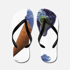 earth melt Flip Flops