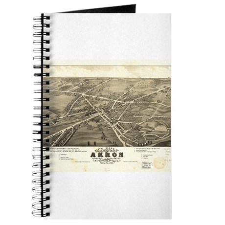 Akron antique map. Journal