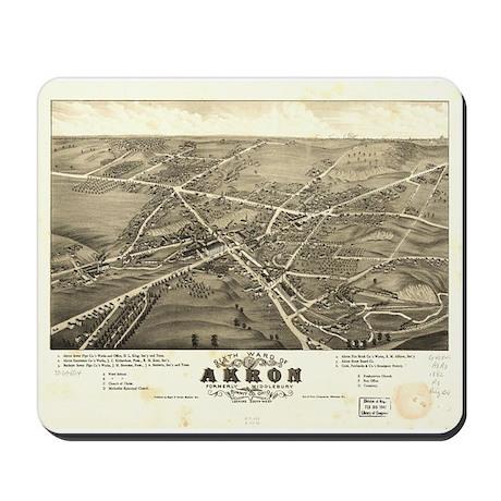 Akron antique map. Mousepad