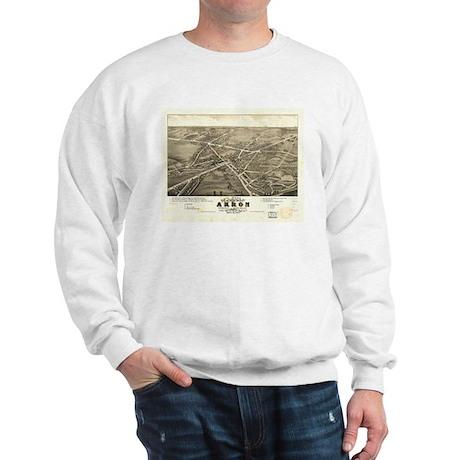 Akron antique map. Sweatshirt