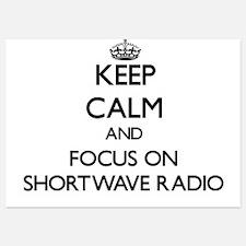 Keep Calm and focus on Shortwave Radio Invitations