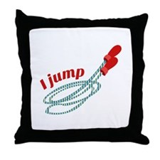 I Jump Throw Pillow