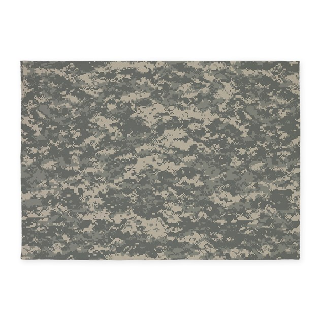 Digital Camo 5'x7'Area Rug By Pridegiftshop