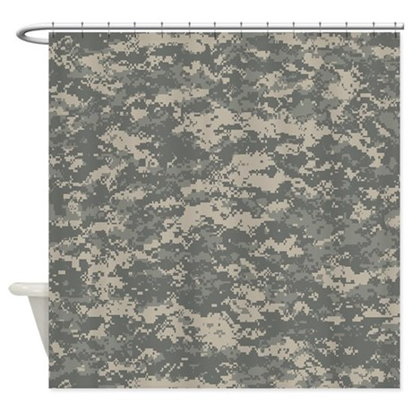 Digital Camo Shower Curtain By Pridegiftshop