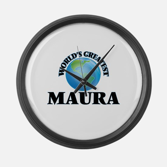 World's Greatest Maura Large Wall Clock