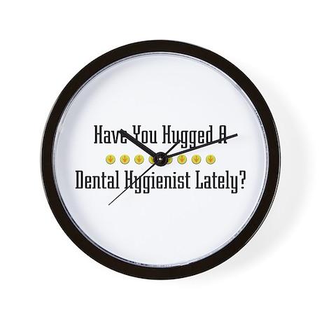 Hugged Dental Hygienist Wall Clock