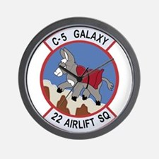22nd Airlift Squadron.png Wall Clock