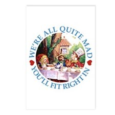 WE'RE ALL MAD - BLUE Postcards (Package of 8)