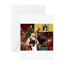 card-santahm-EngSpringer Greeting Cards