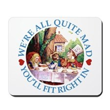 WE'RE ALL MAD - BLUE Mousepad