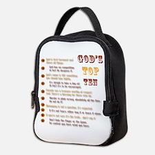God's Top Ten List Neoprene Lunch Bag
