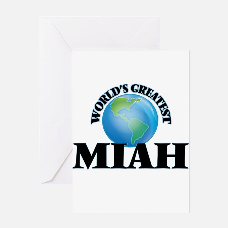 World's Greatest Miah Greeting Cards