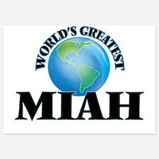 World's Greatest Miah Invitations