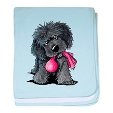 Playful Newfie Pup baby blanket