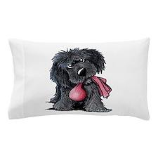 Playful Newfie Pup Pillow Case