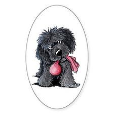 Playful Newfie Pup Decal