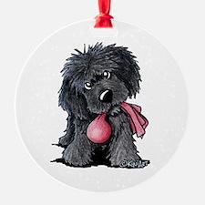 Playful Newfie Pup Ornament