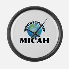 World's Greatest Micah Large Wall Clock