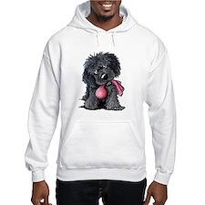 Playful Newfie Pup Hoodie Sweatshirt