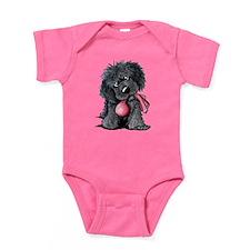 Playful Newfie Pup Baby Bodysuit
