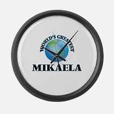 World's Greatest Mikaela Large Wall Clock