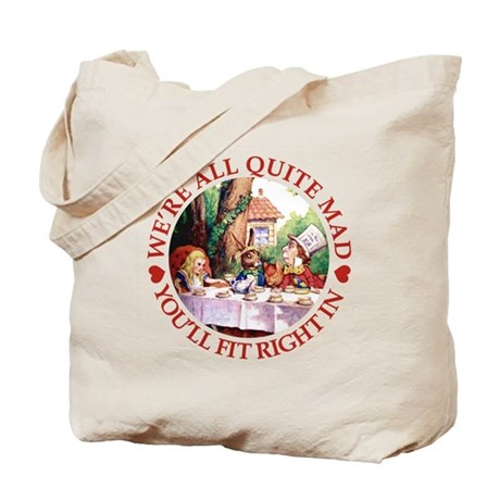 WE'RE ALL MAD - RED Tote Bag