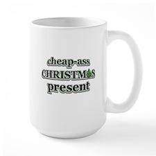 cheap-ass Christmas present Mugs